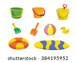 beach toy cartoon vector | Shutterstock .eps vector #384195952