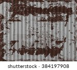 Vector Old Rusty Corrugated Iron
