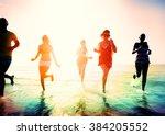 friendship freedom beach summer ... | Shutterstock . vector #384205552