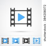 film play trendy 5 styles icon. ... | Shutterstock .eps vector #384208372