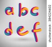 Vector Colored Alphabet