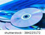 closeup of a stack compact... | Shutterstock . vector #384225172
