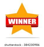 winner badge or icon flat design