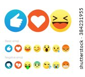 set of cute smiley emoticons ... | Shutterstock .eps vector #384231955
