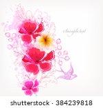 fantasy watercolor vector... | Shutterstock .eps vector #384239818