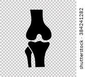 knee joint icon   Shutterstock .eps vector #384241282
