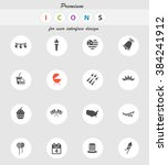 independence day  vector icons... | Shutterstock .eps vector #384241912