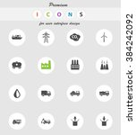 industrial  vector icons for... | Shutterstock .eps vector #384242092