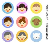 set of family and pet icons  ... | Shutterstock .eps vector #384243502