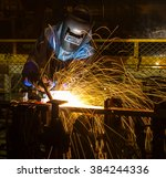 welder industrial automotive... | Shutterstock . vector #384244336