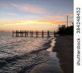 beach with sunset | Shutterstock . vector #384248452
