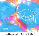 creative vector academic cap....   Shutterstock .eps vector #384248872