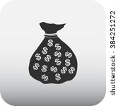 money bag dollars simple icon