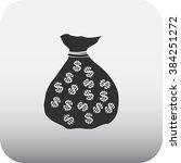 money bag dollars simple icon