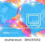 creative vector tv. art...   Shutterstock .eps vector #384255352