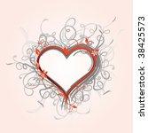 ornate floral heart | Shutterstock .eps vector #38425573