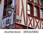 normandie  the picturesque city ... | Shutterstock . vector #384265882