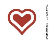 heart icon vector | Shutterstock .eps vector #384265942