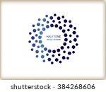 color abstract halftone logo...   Shutterstock .eps vector #384268606