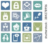 vector set of icons for... | Shutterstock .eps vector #384278956