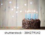 birthday cake | Shutterstock . vector #384279142