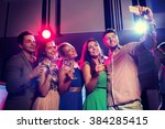 party  holidays  technology ... | Shutterstock . vector #384285415