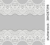 lace retro ornament  embroidery ... | Shutterstock .eps vector #384287398