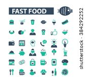 fast food icons  | Shutterstock .eps vector #384292252