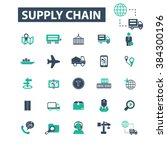 supply chain icons  | Shutterstock .eps vector #384300196