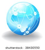 internet globe | Shutterstock .eps vector #38430550