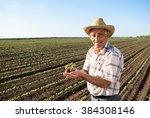 Senior Farmer In A Field...