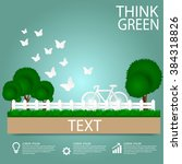 eco friendly. ecology concept... | Shutterstock .eps vector #384318826