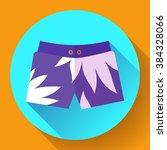 man beach shorts vector icon.... | Shutterstock .eps vector #384328066