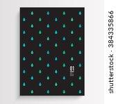 abstract minimal flyer design... | Shutterstock .eps vector #384335866