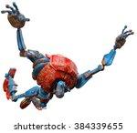 very old robot jump big leap | Shutterstock . vector #384339655