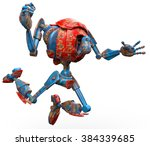 very old robot jump | Shutterstock . vector #384339685