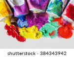 tubes of oil paint and artist... | Shutterstock . vector #384343942