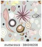 seamless texture on a sea... | Shutterstock .eps vector #384348208