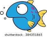 cartoon illustration of a blue... | Shutterstock .eps vector #384351865