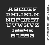 vector font. alphabet with... | Shutterstock .eps vector #384353062