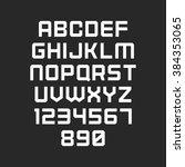 vector font. alphabet with... | Shutterstock .eps vector #384353065
