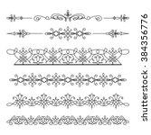 set of linear border ornaments  ... | Shutterstock .eps vector #384356776