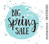 big spring sale watercolor... | Shutterstock .eps vector #384358282