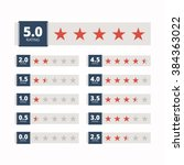 star rating badges. vector... | Shutterstock .eps vector #384363022