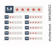 star rating badges. vector... | Shutterstock .eps vector #384363022