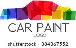 car paint logo vector. | Shutterstock .eps vector #384367552