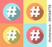hashtag | Shutterstock .eps vector #384368758