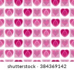 seamless abstract pattern with... | Shutterstock .eps vector #384369142