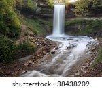 minnehaha waterfall in... | Shutterstock . vector #38438209