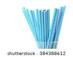 Striped Drink Straws On A Whit...